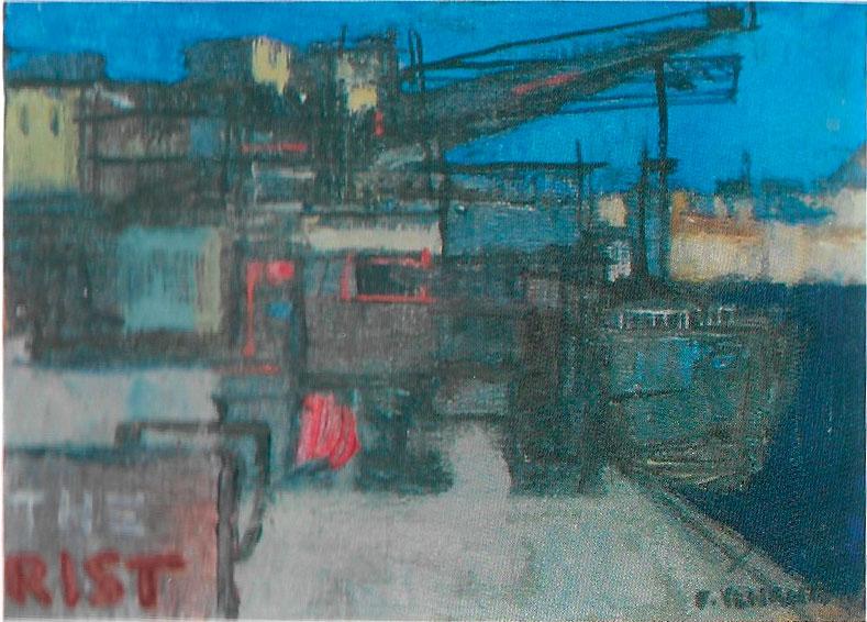 Nel porto, 20x30 – Olio
