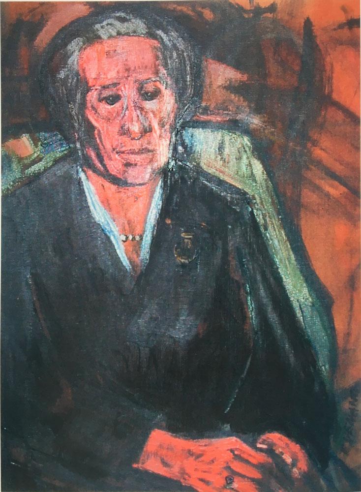 La signora Rita, 70x50 – Olio