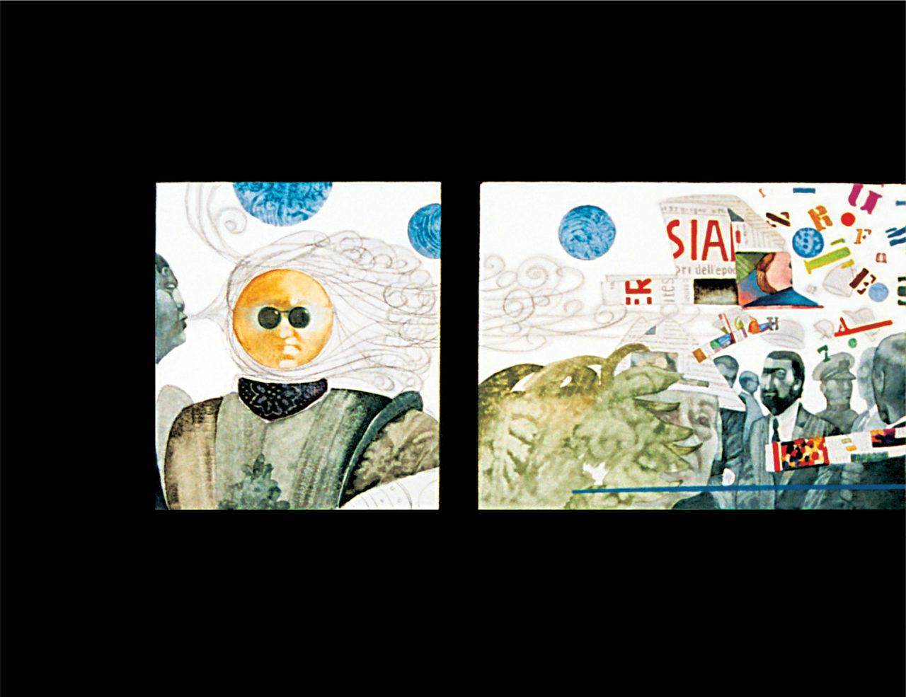 Tra il sole e la luna (Trilogia 1), cm 100x120 – Tecnica mista