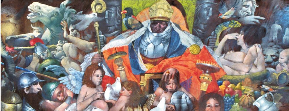 Medioevo I, cm 100x180 – Tenica mista