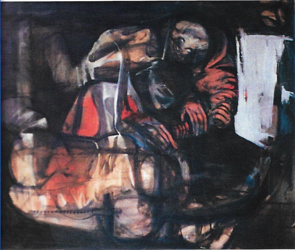 Astronauti, 80x100 – Olio