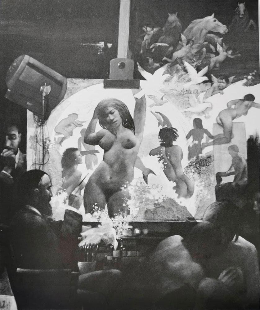 La nascita di Venere, 120x100 cm - Tecnica mista e olio su tela, 2012