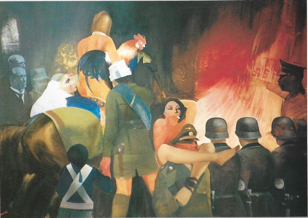 La grande fiammata, 120x170 – Olio