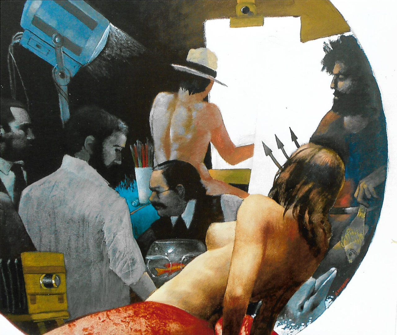 """Quadro di Franco Venanti """"La sirena"""""""